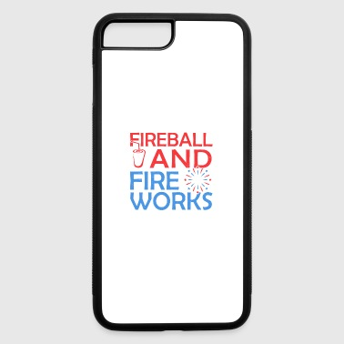 Fireball And Fireworks - iPhone 7 Plus/8 Plus Rubber Case