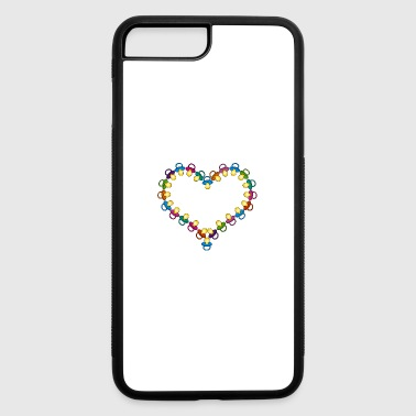 heart out of pacifiers - iPhone 7 Plus/8 Plus Rubber Case