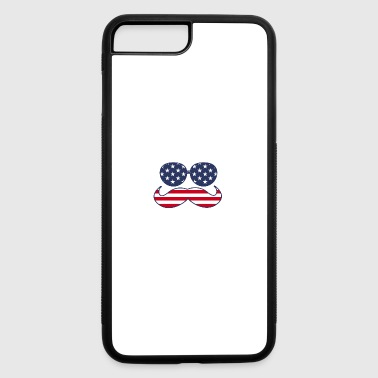 4th Of July Mustache - iPhone 7 Plus/8 Plus Rubber Case