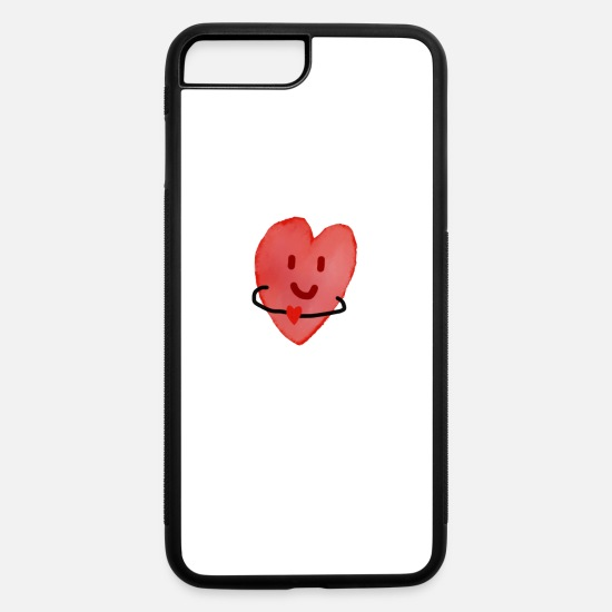 Happy iPhone Cases - Heart with a heart - iPhone 7 & 8 Plus Case white/black