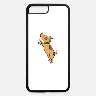 Brow little jumping brow dog cartoon - iPhone 7 & 8 Plus Case