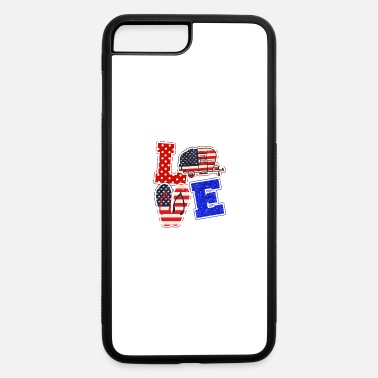 July Camper Love Camping Usa Flag 4th of July Flip Flop - iPhone 7 & 8 Plus Case