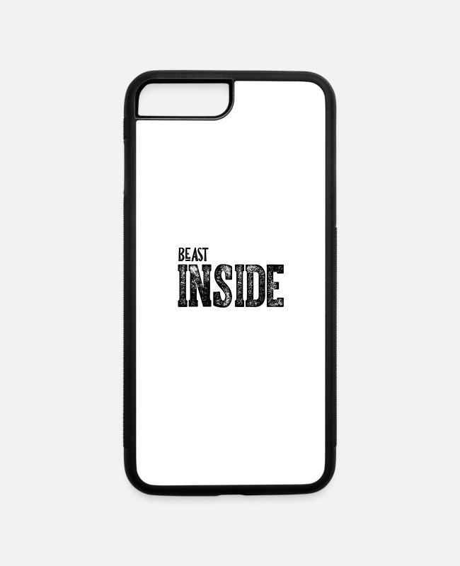 Beast Inside Vintage iPhone Cases - Beast Inside Vintage Beast Inside - iPhone 7 & 8 Plus Case white/black