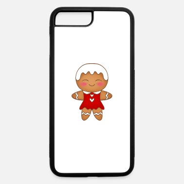 Cute little funny happy Christmas gingerbread girl - iPhone 7 & 8 Plus Case