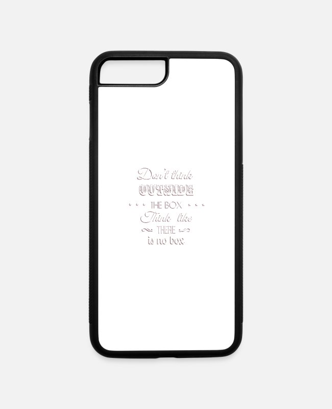 Think iPhone Cases - inspirational messages outside 72 F - iPhone 7 & 8 Plus Case white/black