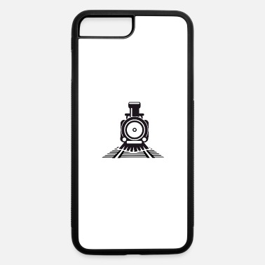 Nostalgic nostalgic locomotive on rails - iPhone 7 & 8 Plus Case