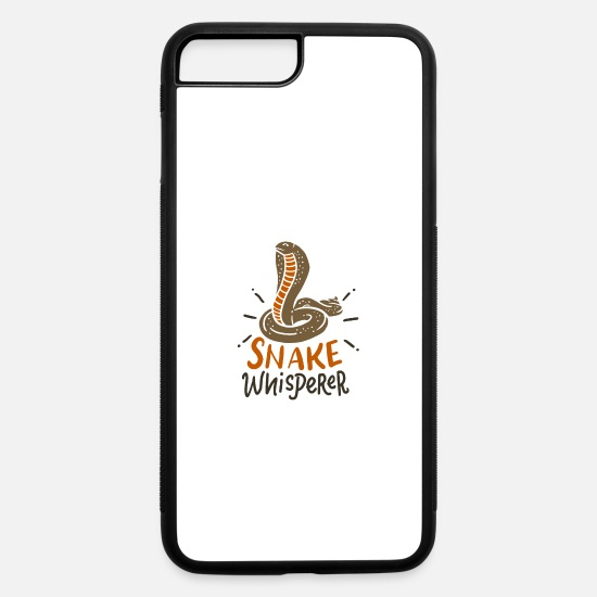 Bearded iPhone Cases - Snake Whisperer Funny Pet Snake T-Shirt Ophiology - iPhone 7 & 8 Plus Case white/black