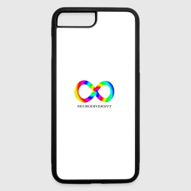 Aspergers Syndrome Neurodiversity with Rainbow swirl - iPhone 7 Plus/8 Plus Rubber Case