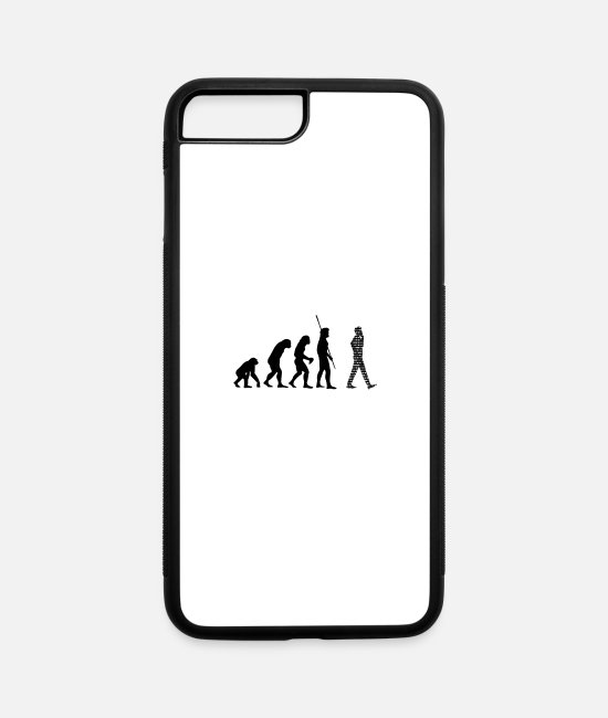 Stasi iPhone Cases - Binary Evolution Cell - iPhone 7 & 8 Plus Case white/black