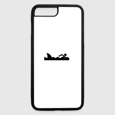 Swimming Great White Shark Follows Gift Present - iPhone 7 Plus/8 Plus Rubber Case