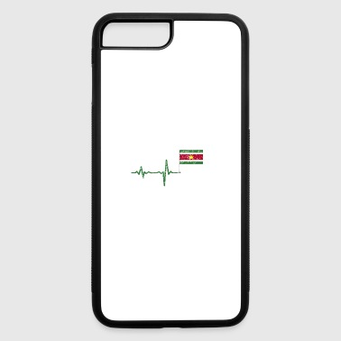 Heartbeat Surinam flag gift - iPhone 7 Plus/8 Plus Rubber Case