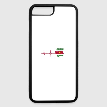 Heartbeat Surinam gift - iPhone 7 Plus/8 Plus Rubber Case