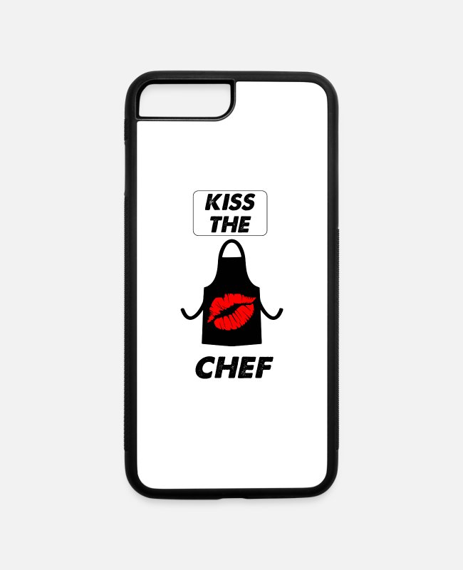 Lazy iPhone Cases - kiss the chef - iPhone 7 & 8 Plus Case white/black