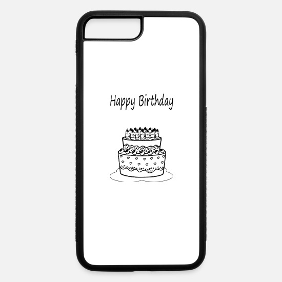 Happy iPhone Cases - happy birthday - iPhone 7 & 8 Plus Case white/black