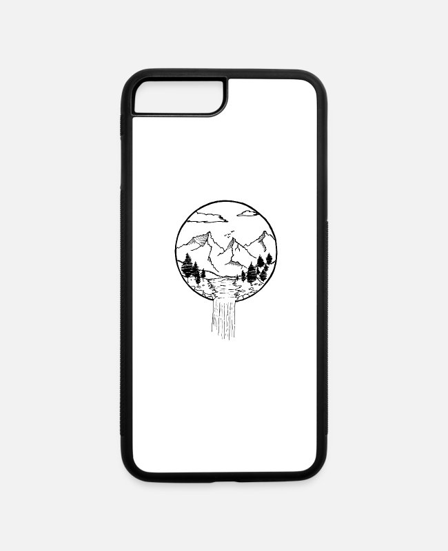 Nature iPhone Cases - Circle River - iPhone 7 & 8 Plus Case white/black