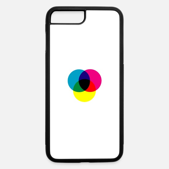 Art iPhone Cases - primary colors - iPhone 7 & 8 Plus Case white/black