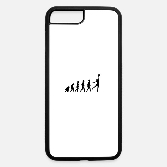 Basket iPhone Cases - basketball korbball dribbling dunking center team8 - iPhone 7 & 8 Plus Case white/black