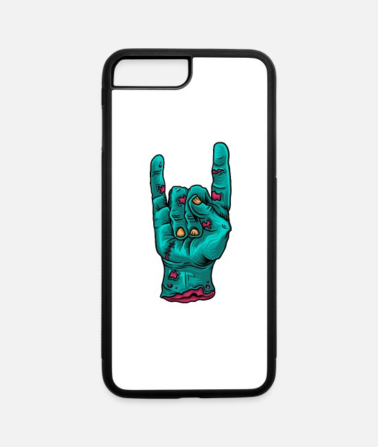 Greeting iPhone Cases - Cartoon Zombie Hand - iPhone 7 & 8 Plus Case white/black