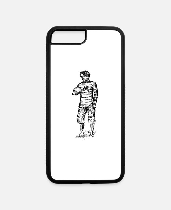 Ball iPhone Cases - american football soccer fussball ball goalkeeper1 - iPhone 7 & 8 Plus Case white/black