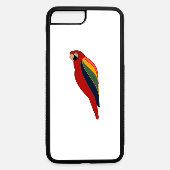Bird iPhone Cases - Modern Parrot - iPhone 7 & 8 Plus Case white/black