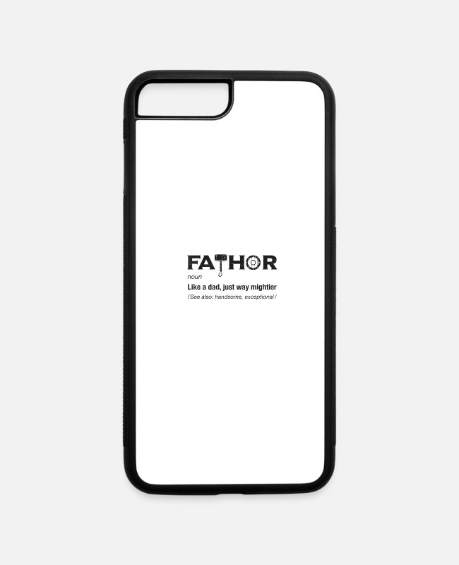 Thor iPhone Cases - Mens Fathor Thor Viking Dad Father Pun Cool shirt - iPhone 7 & 8 Plus Case white/black
