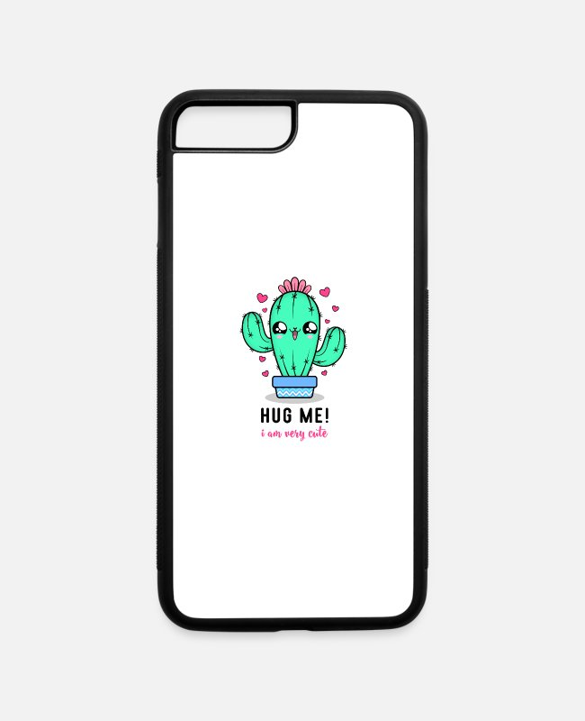 Hug Me iPhone Cases - Hug Me I am Very Cute - iPhone 7 & 8 Plus Case white/black