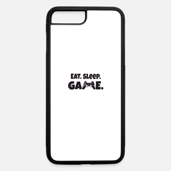 Game Ball iPhone Cases - Eat Sleep Game Shirt - iPhone 7 & 8 Plus Case white/black