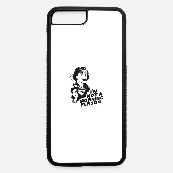 Coffee Bean iPhone Cases - morning person - iPhone 7 & 8 Plus Case white/black
