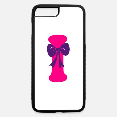 K Ribbon ❤✔Alphabet I with a Purple Ribbon✔❤ - iPhone 7 & 8 Plus Case