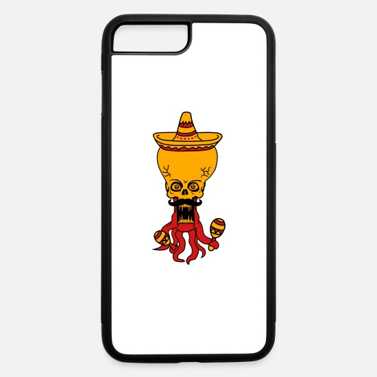 Cosmic iPhone Cases - sombrero rattles hat mexican mustache mustache mex - iPhone 7 & 8 Plus Case white/black