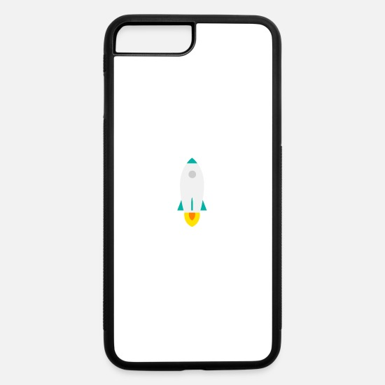 Saucer iPhone Cases - rocket clothes by fecayridi - iPhone 7 & 8 Plus Case white/black