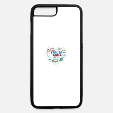 Cuore ITALY HEART ITALIA CUORE WORD CLOUD HOLIDAY (AZUR) - iPhone 7 & 8 Plus Case