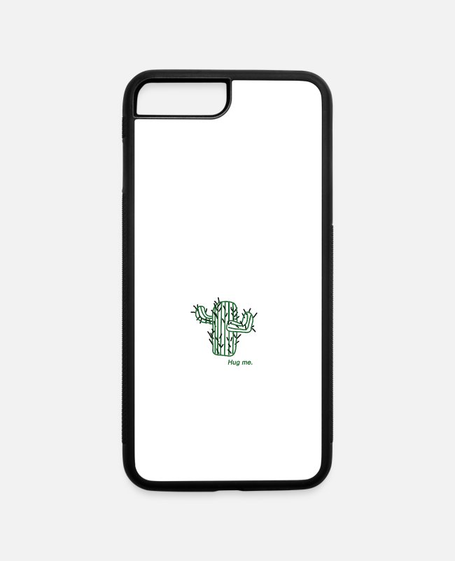 Nature iPhone Cases - cactus - hug me green - iPhone 7 & 8 Plus Case white/black