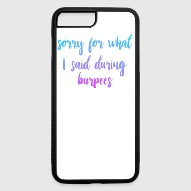 Funny Burpees Gym Fitness - iPhone 7 Plus/8 Plus Rubber Case