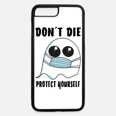 Ghost Ghost with face mask Halloween safety mask - iPhone 7 & 8 Plus Case