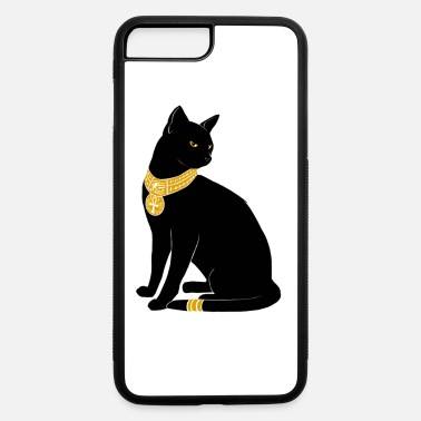 Jewelry BLACK CAT WITH GOLD JEWELRY - iPhone 7 Plus/8 Plus Rubber Case