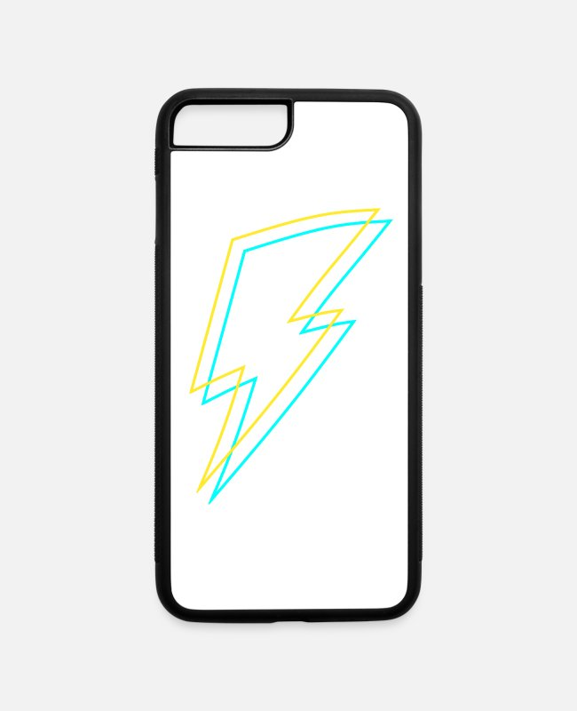 Electricity iPhone Cases - Bolt - Flash - Lightning -Trueno - Thunder - Zeus - iPhone 7 & 8 Plus Case white/black