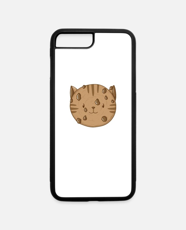 Cookie iPhone Cases - Cookie cat - iPhone 7 & 8 Plus Case white/black