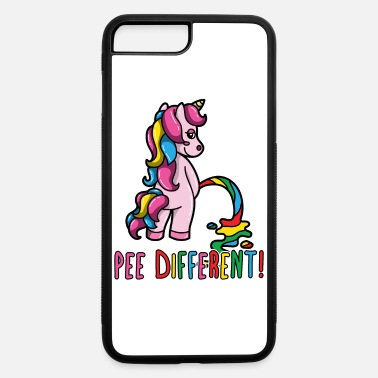 Gay Pride Unicorn Rainbow Flag Pee Different Funny Pun - iPhone 7 & 8 Plus Case