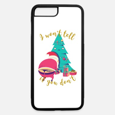 I won't tell if you don't | Naughty Xmas Santa - iPhone 7 Plus/8 Plus Rubber Case