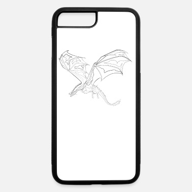 Drawing Drache - one line drawing - iPhone 7 & 8 Plus Case