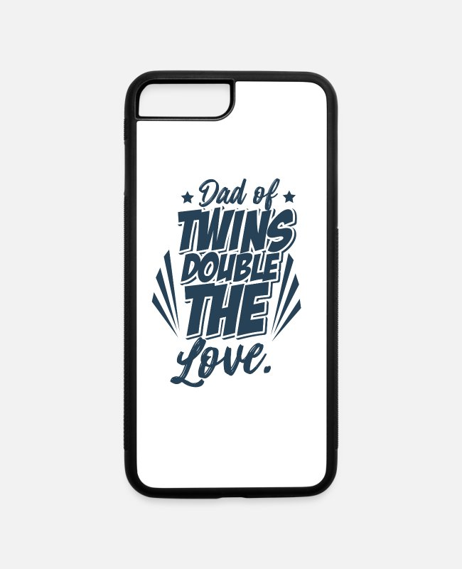 Pregnancy iPhone Cases - Twins - iPhone 7 & 8 Plus Case white/black