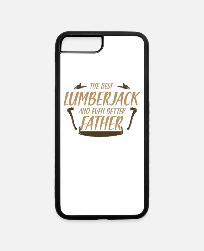 Chain Saw iPhone Cases - Lumberjack, Saw, Chainsaw - iPhone 7 & 8 Plus Case white/black