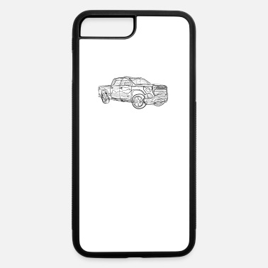 Pickup Line Pickup Truck - One Line Drawing - iPhone 7 & 8 Plus Case