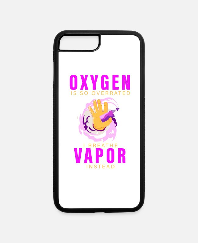Cigarette iPhone Cases - vaping, smoking, non-smoking - iPhone 7 & 8 Plus Case white/black