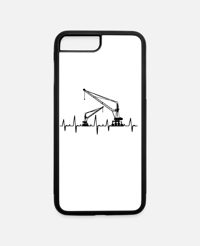 Origami iPhone Cases - I love cranes crane construction site gift - iPhone 7 & 8 Plus Case white/black