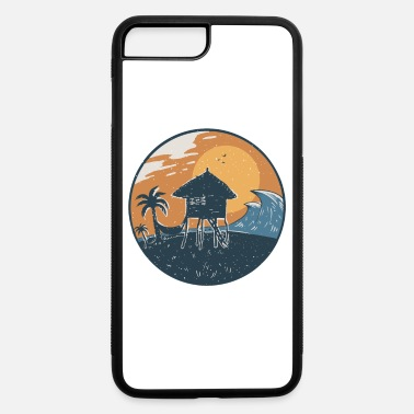 South Seas South Seas Landscape Hut Hammock Wave Palm Tree - iPhone 7 & 8 Plus Case