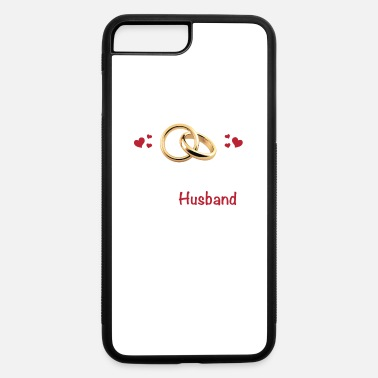 Husband Happy Anniversary Gift For Him Husband Love Forever Vow Wedding Rings - iPhone 7 & 8 Plus Case