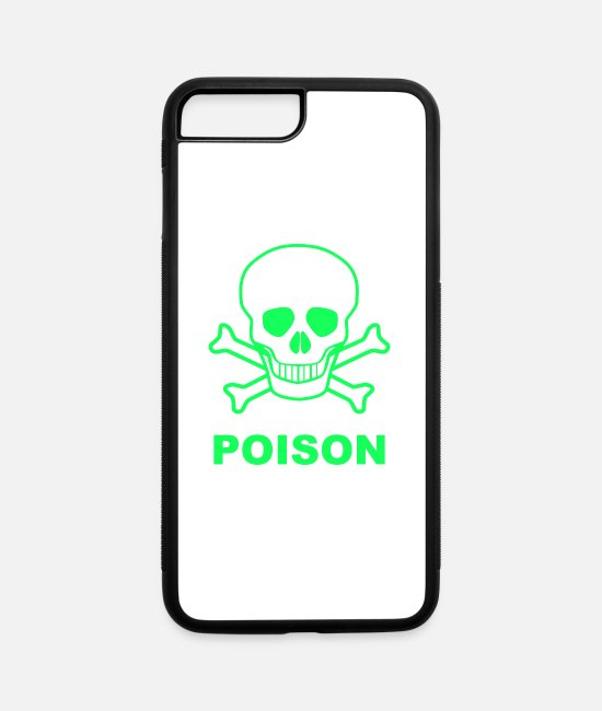 Toxic Symbols iPhone Cases - Toxic skull - iPhone 7 & 8 Plus Case white/black