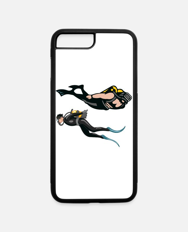 Madinat Makadi iPhone Cases - caves oil diving diving diving deep sea diving - iPhone 7 & 8 Plus Case white/black